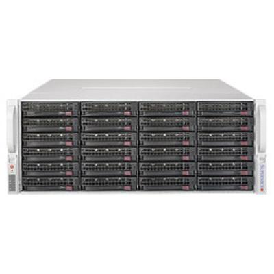 Supermicro 6048R-E1CR36H Server barebone - Zwart, Zilver