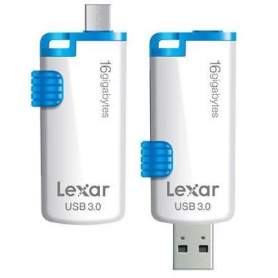 Lexar USB flash drive: 16GB JumpDrive M20 - Blauw, Wit