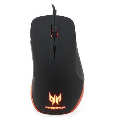 Acer computermuis: Predator - Zwart, Rood