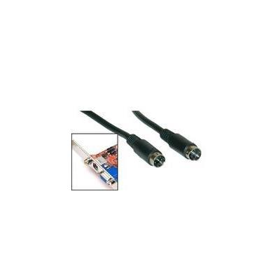 Microconnect : SVHS 10m M-M - Zwart