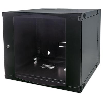 "Intellinet 19"" Double Section Wallmount Cabinet, 12U, 600mm depth, Flatpack, Black Rack - Zwart"