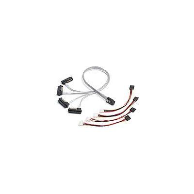 Adaptec SCSI kabel: mSASx4 (SFF-8087) to SAS(4)x1 (SFF-8482) Cable