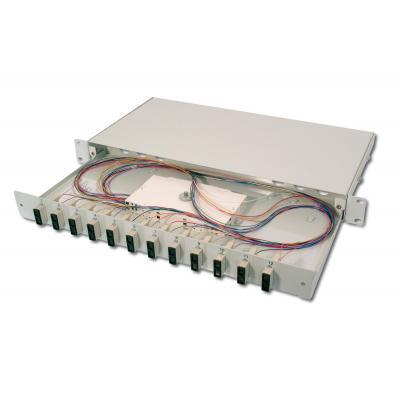 Assmann electronic fiber optic adapter: DN-96320/3 - Grijs