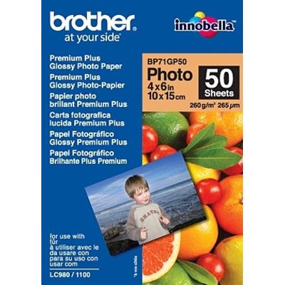 Brother BP71GP50 Premium Glossy Photo Paper Fotopapier - Wit