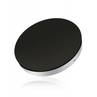 Zens oplader: Single mini Qi draadloos laadstation met inductie - zwart - Zwart, Zilver