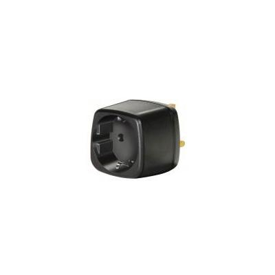 Brennenstuhl netvoeding: Travel Adapter earthed/GB - Zwart