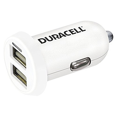 Duracell In-Car USB Charger Oplader - Wit
