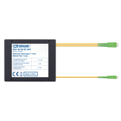 Spaun 815047 Kabel splitter of combiner - Zwart