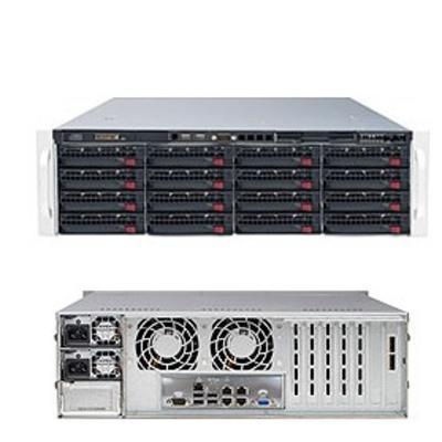 Supermicro SuperServer 6038R-E1CR16N Server barebone - Zwart
