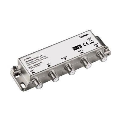 Hama low noise block downconverters: SAT DiSEqC Switch 4-1 - Zilver
