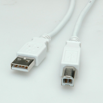 Value USB 2.0 Kabel, type A-B 4,5m USB kabel - Wit