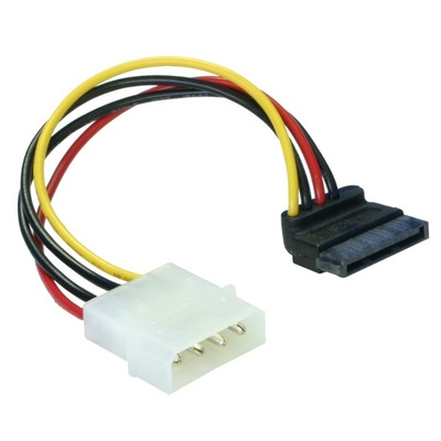 DeLOCK Cable Power SATA HDD > 4pin male – angled Electriciteitssnoer - Multi kleuren