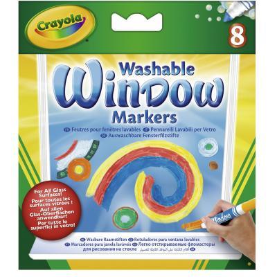 Crayola viltstift: 8 Raamstiften - Multi kleuren