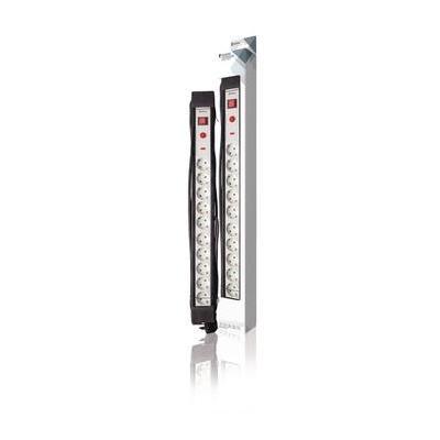 König power extrention: 3680W, AC 230V, 16A, H05VV-F 3G1.5, Type F (CEE 7/7), 45°, IP20, 3m, 710mm, Black/White - .....