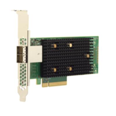 Broadcom 9400-8e Interfaceadapter - Zwart,Groen,Metallic
