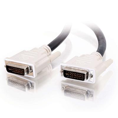 C2G 2m DVI-I M/M Dual Link Cable DVI kabel  - Zwart