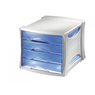 Esselte archiefkast: Ladekast Solea 4 laden blauw