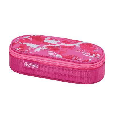 Herlitz potlood case: Camouflage pink - Roze