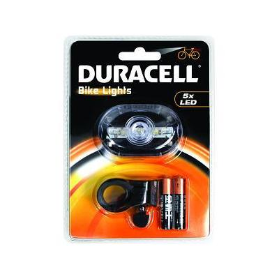 Duracell zaklantaarn: 5 LED Front Bicycle Light - Zwart