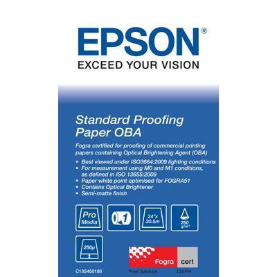 "Epson Standard Proofing Paper OBA 24"" x 30.5 m Plotterpapier"