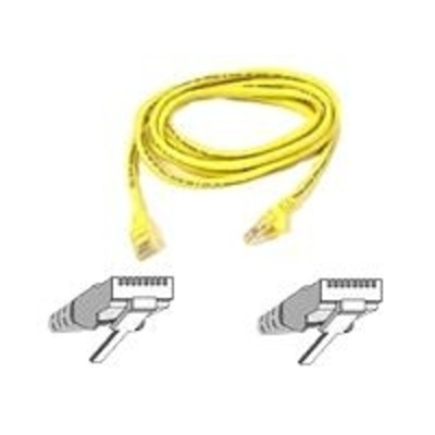 Belkin Cat5e Patch Cable Moulded Snagless Strain Relief 2m Yellow Netwerkkabel