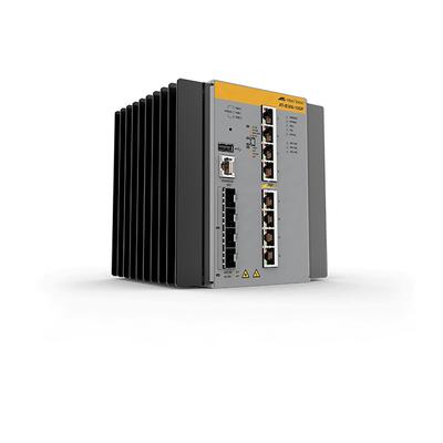Allied Telesis AT-IE300-12GP-80 Switch - Zwart, Grijs