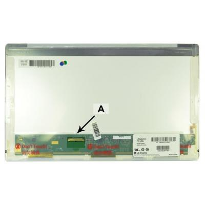 2-power notebook reserve-onderdeel: 14.0 WXGA HD 1366x768 LED Glossy Screen - replaces HSD140PHW1-A00 - Zwart