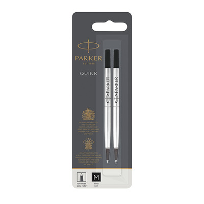 Parker 1950325 Pen-hervulling - Zwart, Zilver