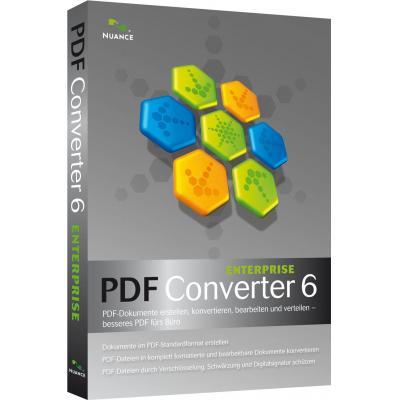 Nuance PDF Converter Enterprise 6, 5001-10000u, EN desktop publishing