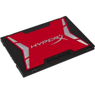 Hyperx SSD: 480GB SAVAGE - Zwart, Rood