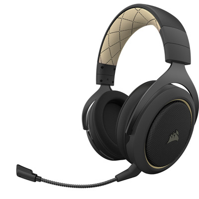 Corsair HS70 PRO WIRELESS Headset - Zwart, Crème