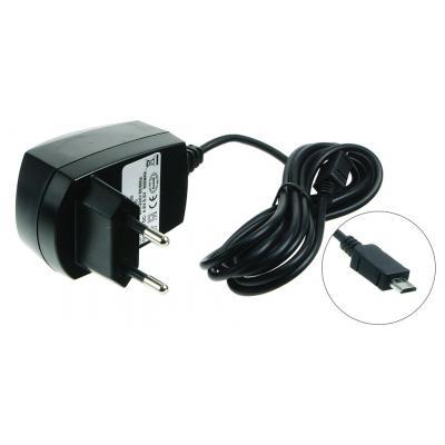 2-power netvoeding: Mobile Phone AC Adapter (Micro USB) - Zwart