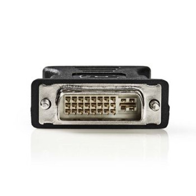 Nedis DVI - VGA-adapter, DVI-I 24+5-pins male - VGA female Kabel adapter - Zwart