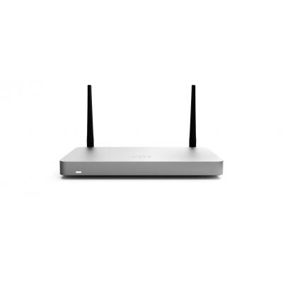 Cisco MX67C, WAN: 1 × 1 GbE, LAN: 4 × 1 GbE, 1 x CAT 6 LTE Cellular Modem, 1 × USB 2.0 firewall