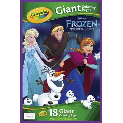 Crayola kleurplaat en boek: GCP Frozen