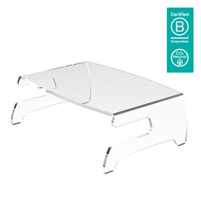 Dataflex Addit monitorverhoger 660 Multimedia kar & stand - Transparant