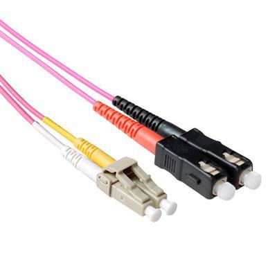 Ewent 3 meter LSZH Multimode 50/125 OM4 glasvezel patchkabel duplex met LC en SC connectoren Fiber optic kabel - .....
