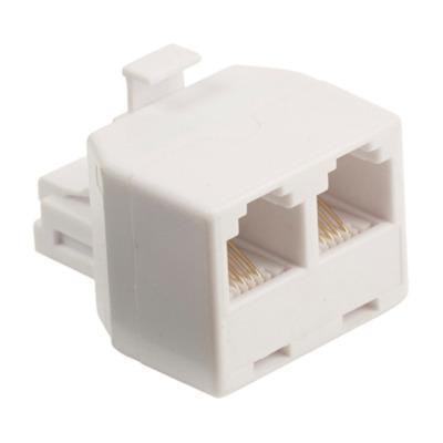 Valueline telefoon splitter: RJ11/2x RJ11 - Wit