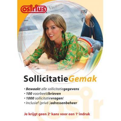 Osirius software suite: Sollicitatie Gemak