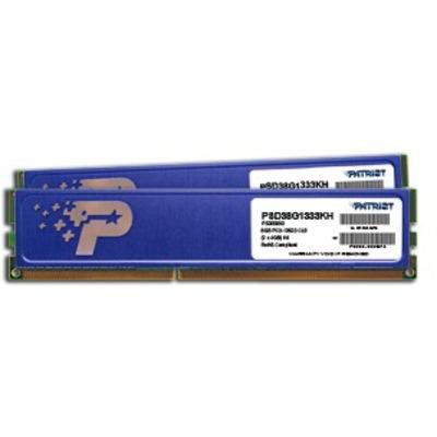 Patriot Memory 8GB DDR3 PC3-10600 Kit RAM-geheugen