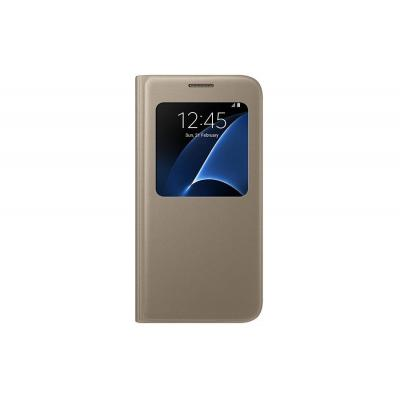 Samsung mobile phone case: Galaxy S7 SView Cover (goud)