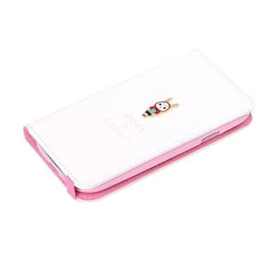 ROCK Rabbit Side Flip Case Samsung Galaxy SIII I9300, White Mobile phone case - Wit