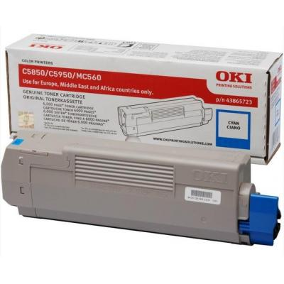 OKI cartridge: Cyan toner for C5850/5950