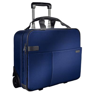 Leitz Complete Smart Carry-On Trolley, 3.2 kg, Titanium blauw Bagagetas - Zwart, Blauw