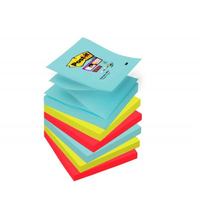 Post-it zelfklevend notitiepapier: R330-6SS-MIA - Aqua colour, Limoen, Rood