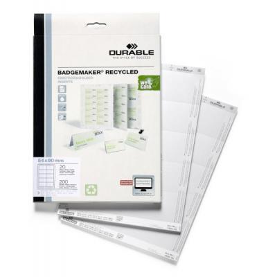 Durable Badgemaker Inserts Gerecycled 54 X 90 Mm Etiket