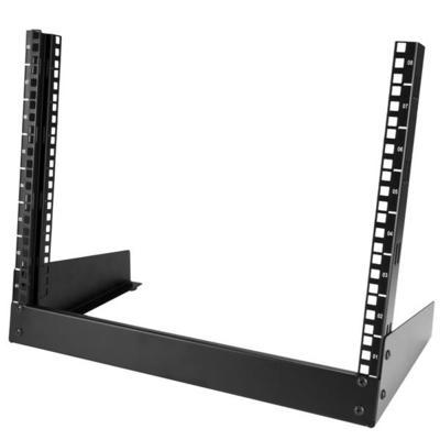 StarTech.com 8U Desktop serverkast 2-stijlen Open Frame Rack - Zwart
