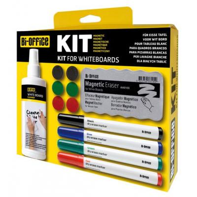 Bi-Office board accessorie: Magnetic Whiteboard Kit - Multi kleuren