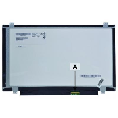 """2-power notebook reserve-onderdeel: 35.56 cm (14.0 """") , WXGA HD, 1366x768, LCD - Zwart, Grijs, Wit"""