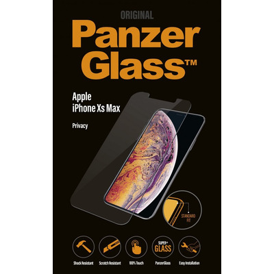 PanzerGlass Apple iPhone Xs Max Standard Fit Privacy Screen protector - Transparant